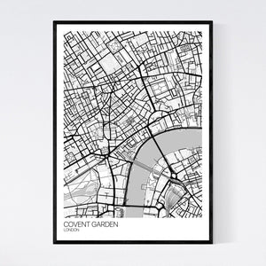 Covent Garden Neighbourhood Map Print