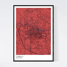 Load image into Gallery viewer, Cumilla City Map Print