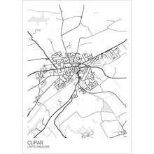 Load image into Gallery viewer, Map of Cupar, United Kingdom