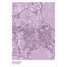 Load image into Gallery viewer, Map of Daejeon, South Korea
