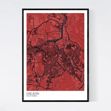 Load image into Gallery viewer, Daejeon City Map Print