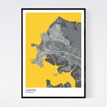 Load image into Gallery viewer, Darwin City Map Print