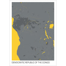 Load image into Gallery viewer, Map of Democratic Republic of the Congo,