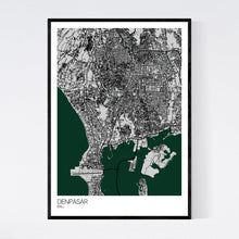 Load image into Gallery viewer, Denpasar City Map Print