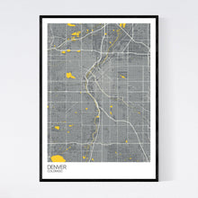 Load image into Gallery viewer, Denver City Map Print