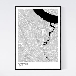Deptford Neighbourhood Map Print