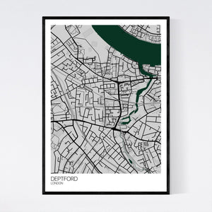 Map of Deptford, London