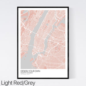 Design Your Own Map Print (UK and Ireland)