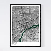Load image into Gallery viewer, Detroit City Map Print