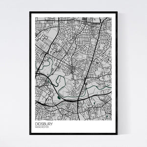 Didsbury Neighbourhood Map Print