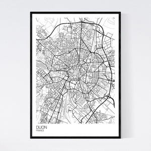 Dijon City Map Print