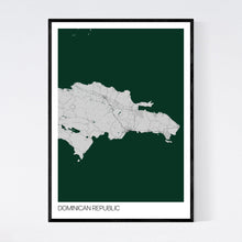 Load image into Gallery viewer, Dominican Republic Country Map Print