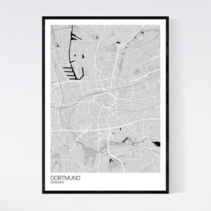 Dortmund City Map Print