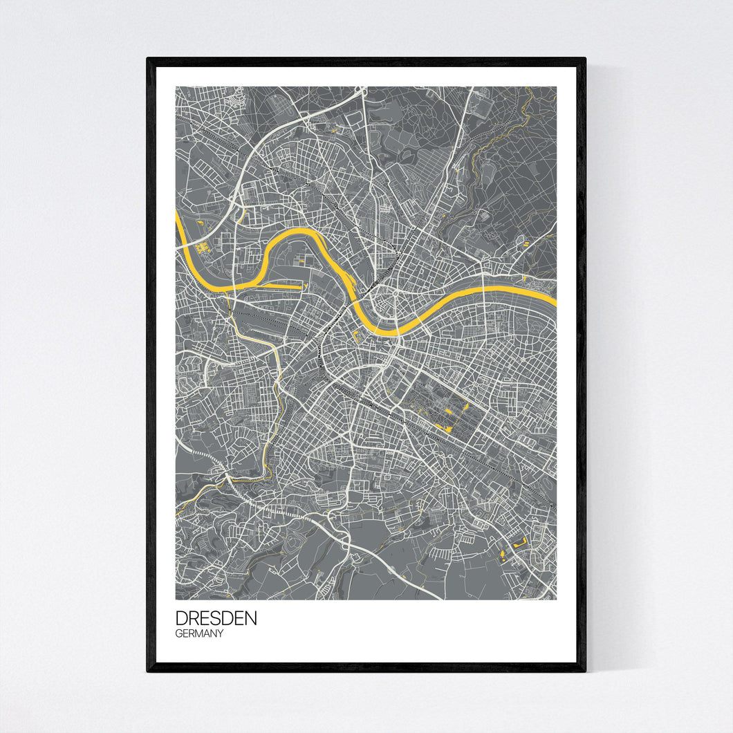 Map of Dresden, Germany