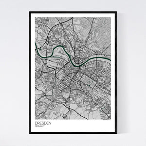 Dresden City Map Print