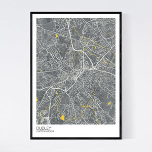 Dudley City Map Print