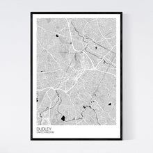 Load image into Gallery viewer, Dudley City Map Print