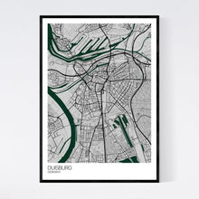 Load image into Gallery viewer, Duisburg City Map Print