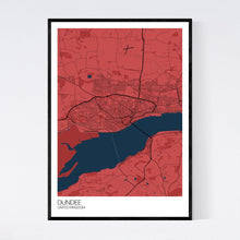 Load image into Gallery viewer, Dundee City Map Print