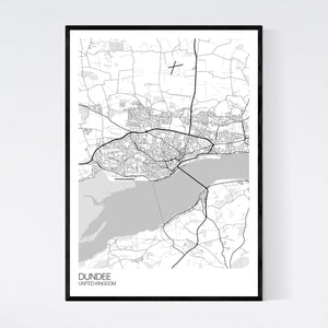 Dundee City Map Print
