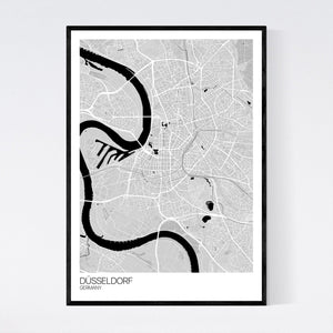 Düsseldorf City Map Print