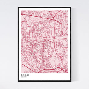 Ealing Neighbourhood Map Print
