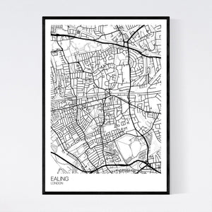 Map of Ealing, London