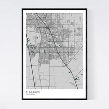 Load image into Gallery viewer, Elk Grove City Map Print