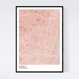 Map of Enfield, United Kingdom