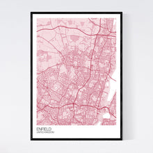 Load image into Gallery viewer, Enfield City Map Print