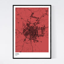 Load image into Gallery viewer, Erbil City Map Print