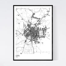 Load image into Gallery viewer, Map of Erbil, Iraq
