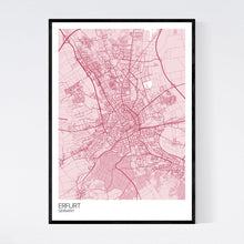 Load image into Gallery viewer, Erfurt City Map Print