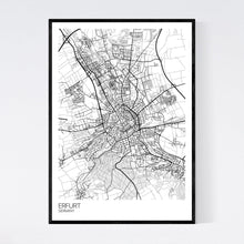 Load image into Gallery viewer, Map of Erfurt, Germany