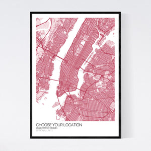 Your Custom Location: Custom Map Print