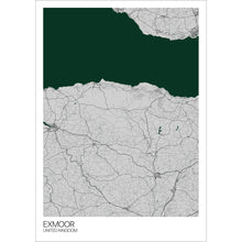 Load image into Gallery viewer, Map of Exmoor, United Kingdom
