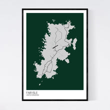 Load image into Gallery viewer, Fair Isle Island Map Print