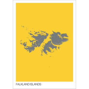Map of Falkland Islands,