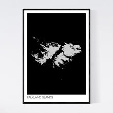 Load image into Gallery viewer, Falkland Islands Archipelago Map Print