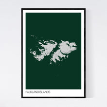 Load image into Gallery viewer, Falkland Islands Island Map Print