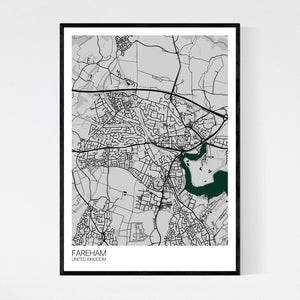 Fareham City Map Print