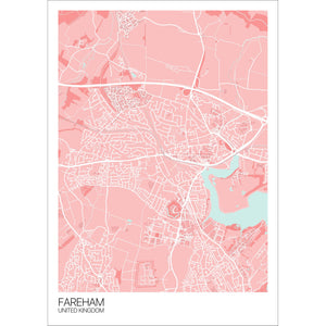 Map of Fareham, United Kingdom