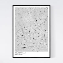 Load image into Gallery viewer, Fayetteville City Map Print