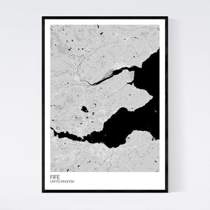 Fife Region Map Print