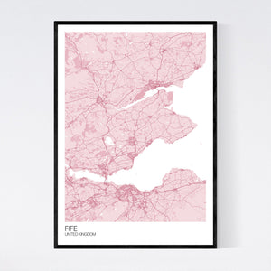 Map of Fife, United Kingdom
