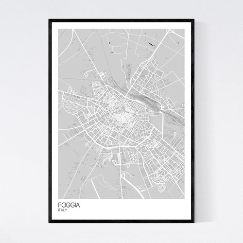 Map of Foggia, Italy