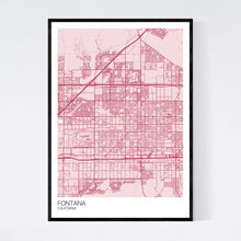 Load image into Gallery viewer, Fontana City Map Print
