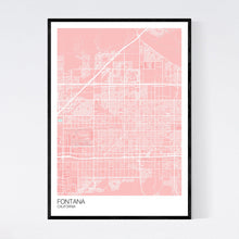 Load image into Gallery viewer, Map of Fontana, California