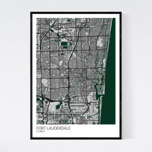 Load image into Gallery viewer, Fort Lauderdale City Map Print