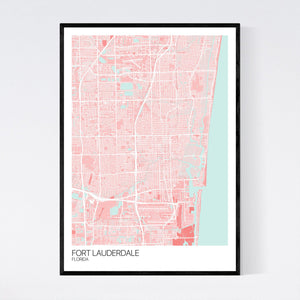 Fort Lauderdale City Map Print